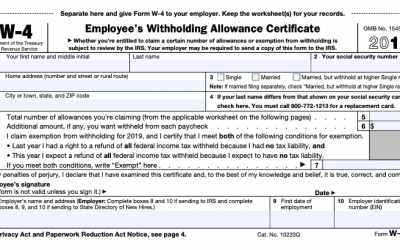 The New W-4: Tips for 2020